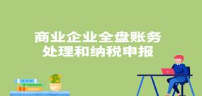 商业企业全盘账务处理和纳税申报