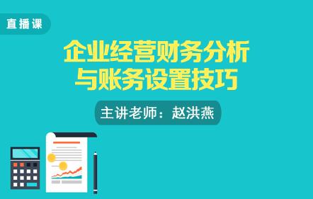 企业经营财务分析与账务设置技巧