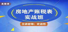 """房地產開發企業會計主管""""賬稅表"""""""