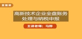 高新技术企业全盘账务处理与纳税申报