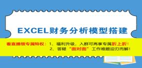 【免费课】EXCEL财务分析模型搭建